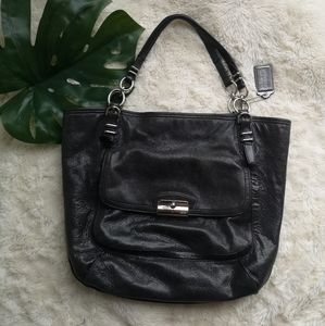Coach leather carryall